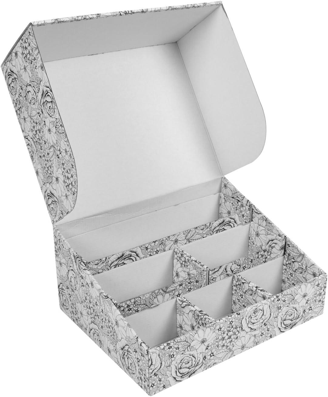 Deco Caja de almacenamiento, organizador, caja de cartón, Bix, oficina mapa antiguo, flores: Amazon.es: Hogar