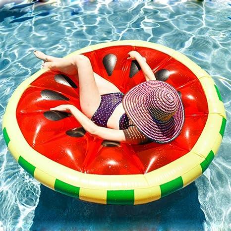Melone - Flotador de piscina de sandía grande, inflable, tumbona de piscina, gigante