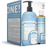 Dr. Bronner's Baby Unscented Gift Set - Pure-Castile Liquid and Bar Soaps, Organic Magic Balm, and 4-in-1 Organic Sugar…