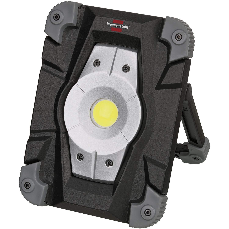 Brennenstuhl Akku LED Arbeitsstrahler (Auß enleuchte 20 Watt, Baustrahler IP54, Fluter Tageslicht) schwarz/grau 1172870