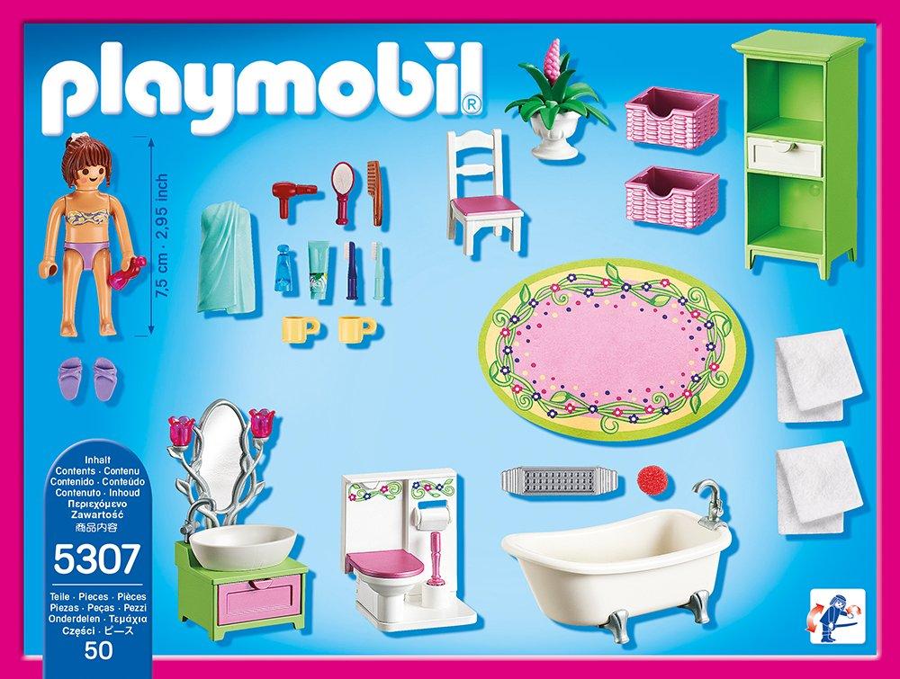 Playmobil 5307 - Romantik-Bad & 5304 - Babyzimmer mit Wiege