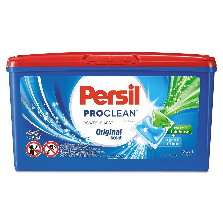 Persil - Proclean Power-Caps Detergent Capsules, Original Scent, 40/Box, 8 Box/Carton