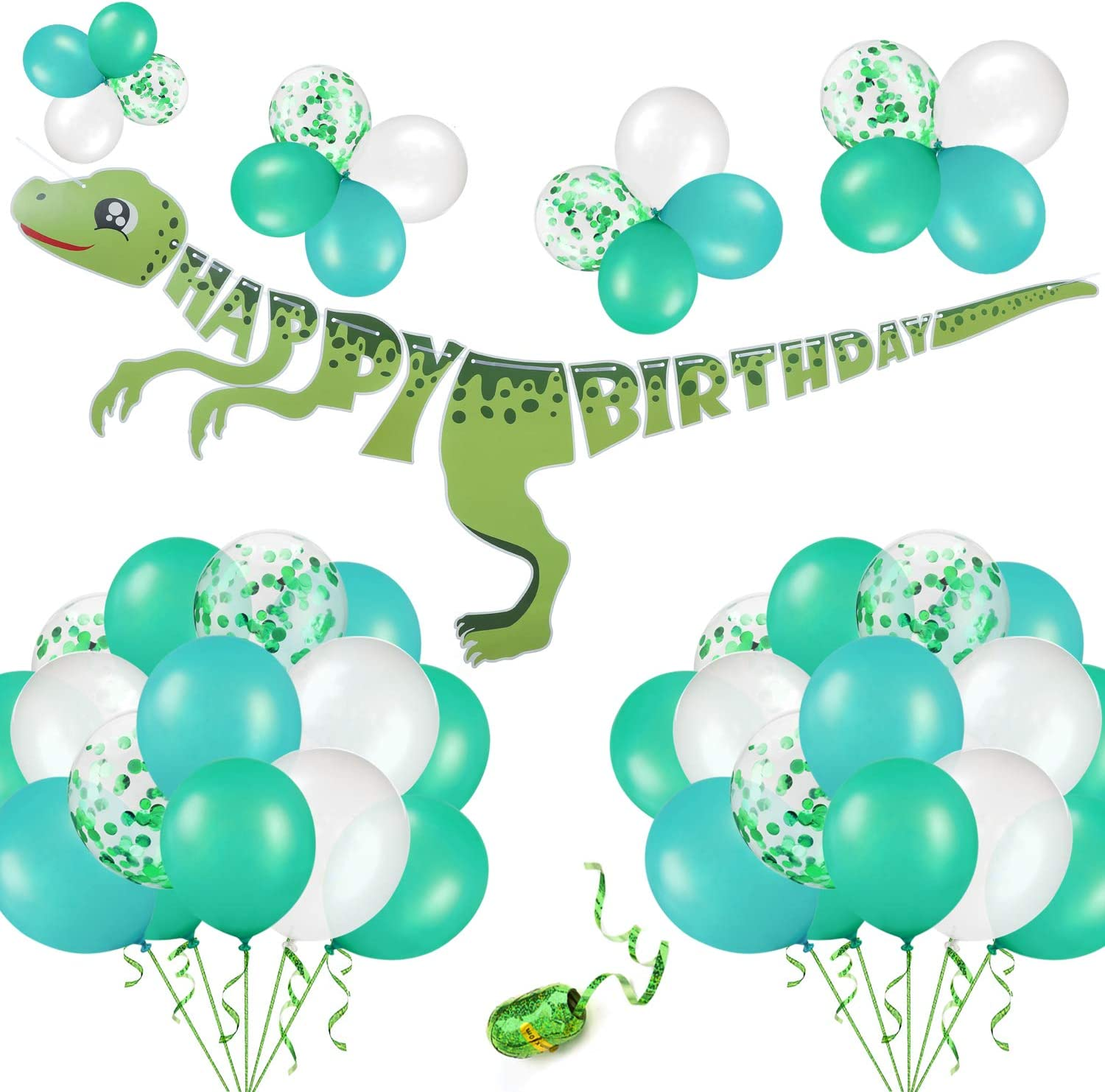 Dinosaur Happy Birthday Banner Party Hanging Decorations Supplies