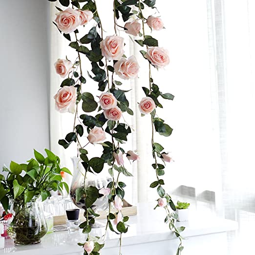 Artificial Fake Flower Ivy Vine Hanging Garland Home Garden Party Wedding Decor