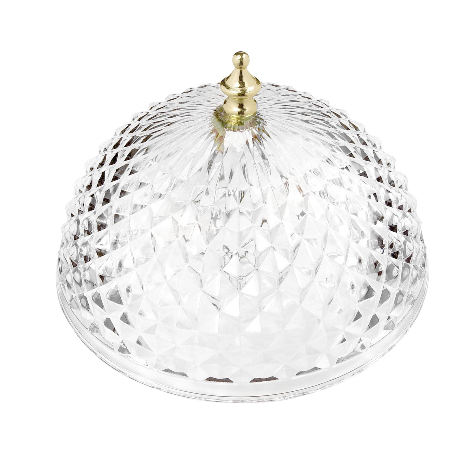 Evelots Antique Clip On Shade, Vintage Diamond Cut Acrylic Dome Light Bulb Fixture by Evelots (Image #4)
