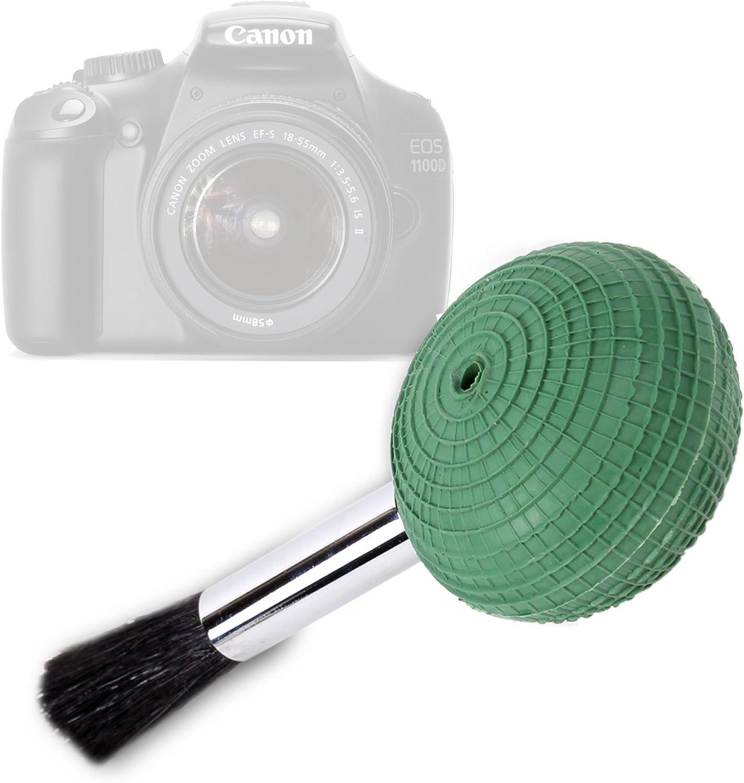 DURAGADGET Bomba Limpiadora De Polvo Y Arena con Cepillo para La C/ámara Canon EOS 1100D