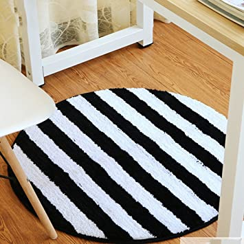 Amazon Com Edge To Carpet Rug Black And White Round Carpet Basket