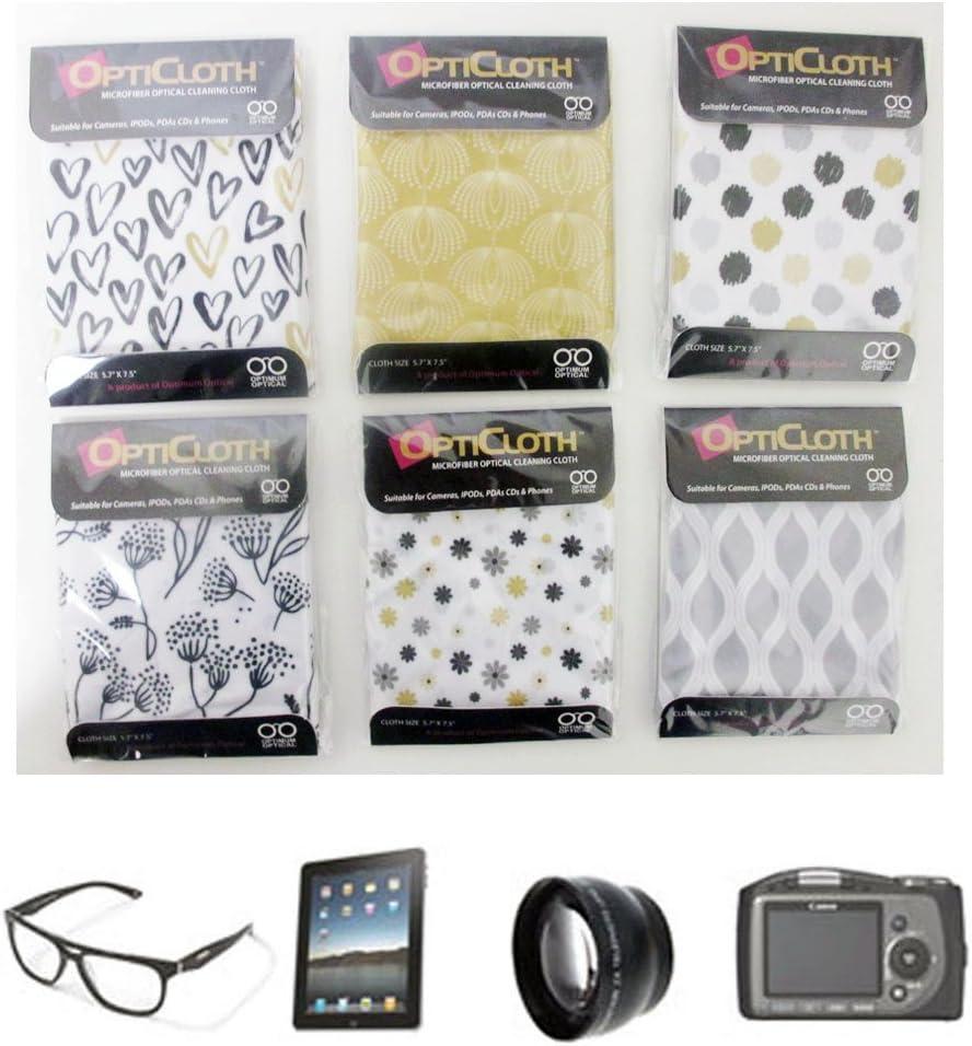 3 OptiCloth Microfiber Optical Cleaning Cloth Glasses Lens Towel Car LCD Camera