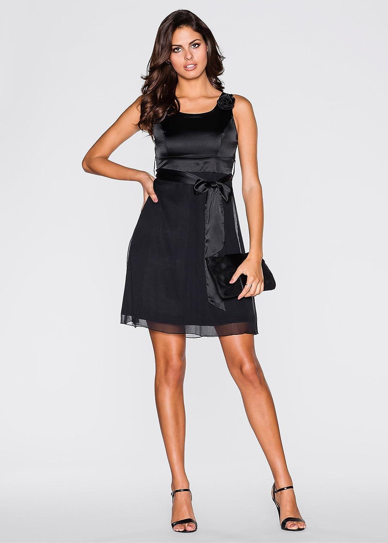 Body Flirt - Vestido - Falda con Peto - Sin Mangas - para Mujer Negro 46: Amazon.es: Ropa y accesorios