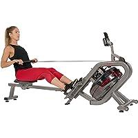 Sunny Health & Fitness Phantom Hydro Water Rowing Machine - SF-RW5910, Silver