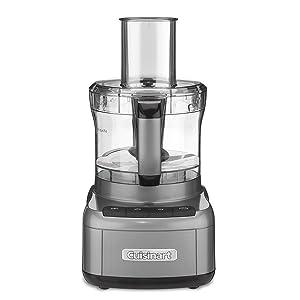 Cuisinart FP-8GMFR 8 Cup Food Processor, Gunmetal (Certified Refurbished)