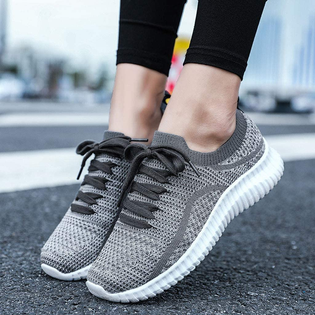 DATEWORK Men Fashion Outdoor Casual Lace-Up Sports Shoes Run Breathable Shoes Sneakers