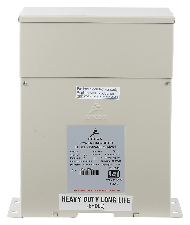 Epcos Power Capacitor 25 Kvar Ehdll B32459l5025a011 Amazon In Industrial Scientific