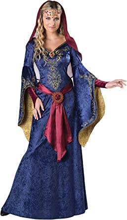 MAID MARIAN ADULT WOMENS MEDIEVAL FANCY DRESS RENAISSANCE COSTUME