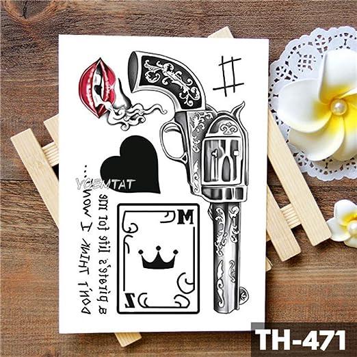 Handaxian 3pcsWinged Saint Angel Etiqueta engomada del Tatuaje a ...