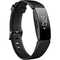 Fitbit Fitbit Inspire Hr Heart Rate & Fitness Tracker, Black, One Size (s & L Bands Included)