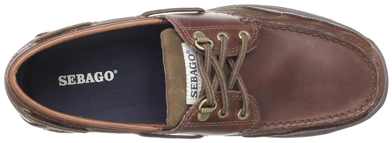 Sebago CLOVEHITCH II B24367 - Náuticos de cuero para hombre, Marrón (Brown Oiled Waxy Lea), 9.5 D(M) US: Amazon.es: Zapatos y complementos
