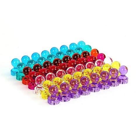 CUSFULL Puntine Magnetiche Colorati Magneti Piccoli da ...