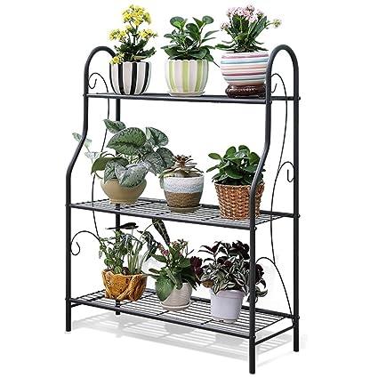 3 Tier Metal Plant Stands Indooroutdoorgreenhouse Flower Pot