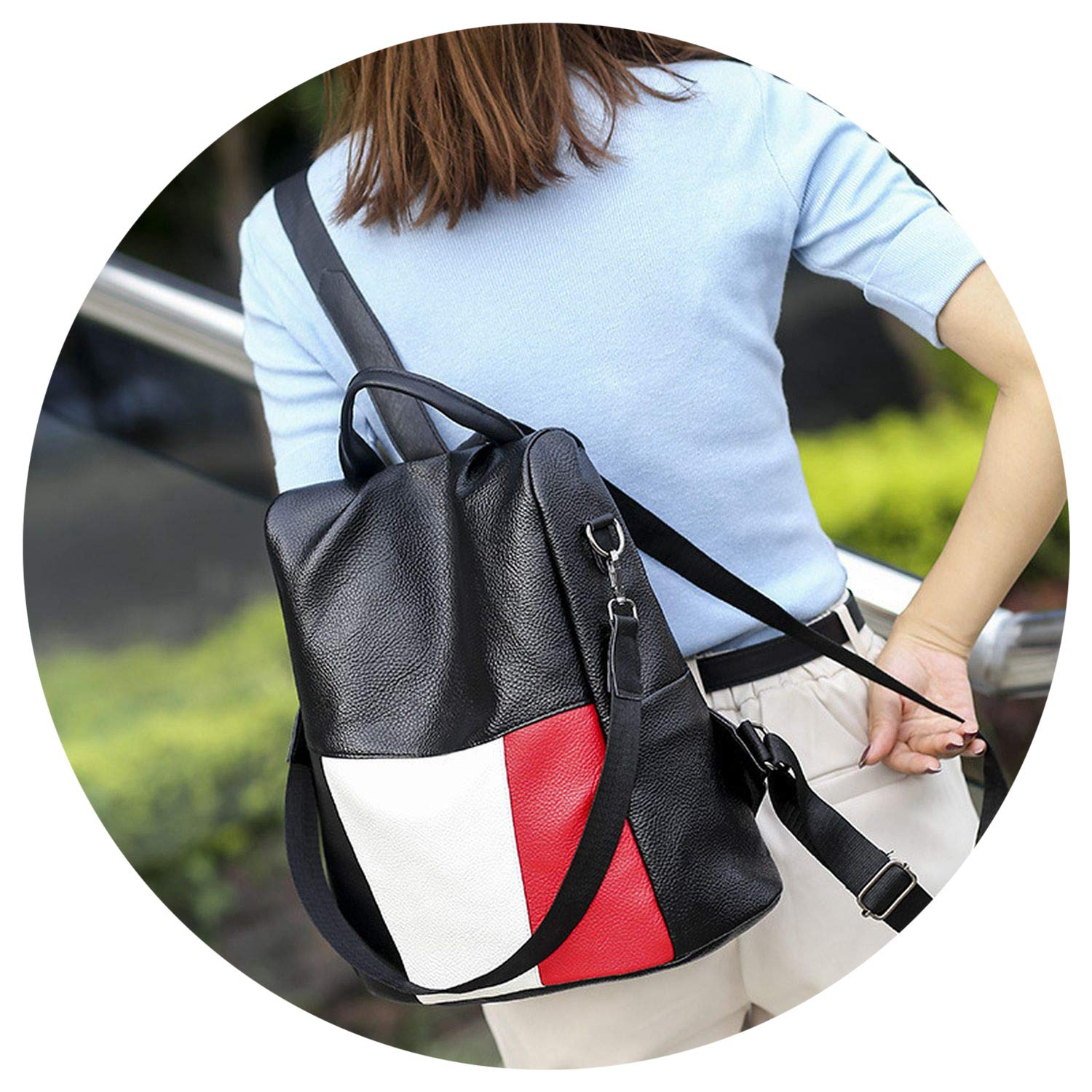 Backpack Women 2019 new on wild hit cr soft leather backpack anti-theft Multifunction pu daily bag