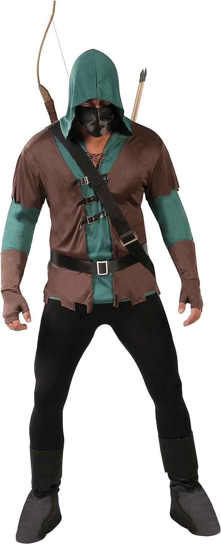 Guirca- Disfraz adulto arquero, Color marrón, Talla 52-54 años ...