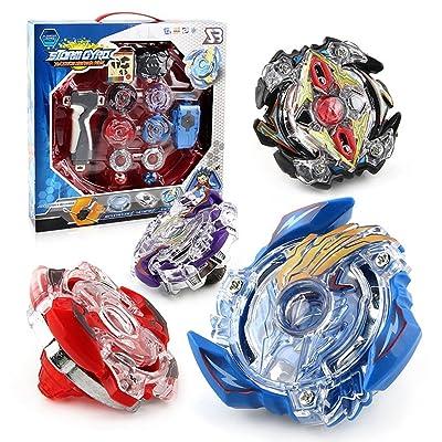 4PCS Set Beyblade Lutte Maîtres Fusion Spinning Top Toupie Gyro Métal Rapidité Jouet Intéressant pour Enfants