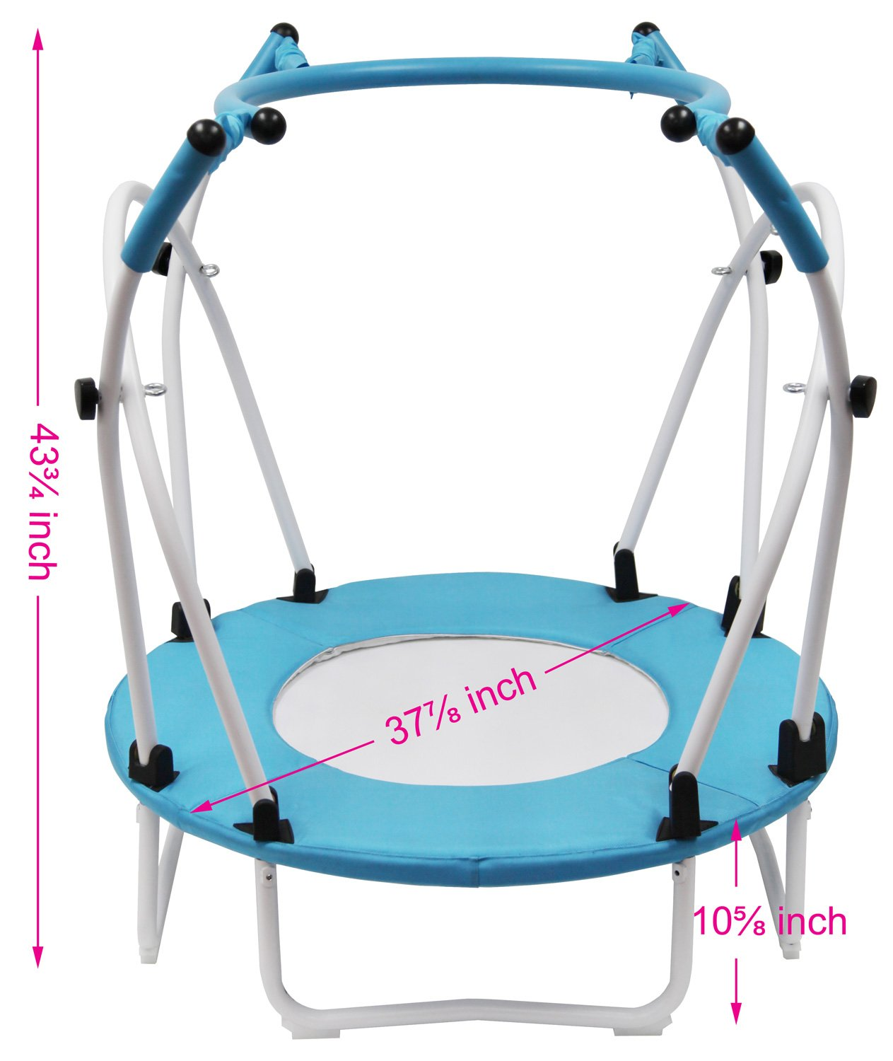 Mini Trampoline Rebounder with safety bar by Health Bounce