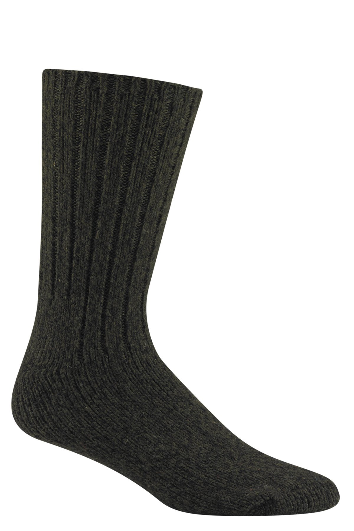 Wigwam El-Pine Socks Olive Heather MD with a Helicase brand sock ring