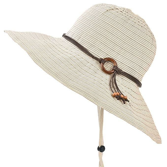 f2ef62dfa2deb9 ENJOYFUR Wide Brim Sun Hats for Women Foldable Summer Beach Hats UPF UV 50+  Packable