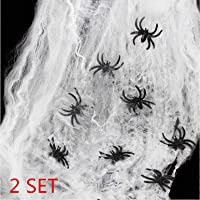 heekpek 130g Tela de Araña con 16 Arañas
