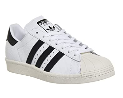 adidas Basket Superstar 80s W S76416 Blanc Croco - Couleur Blanc - Taille 36 2/3 fPtDlgX