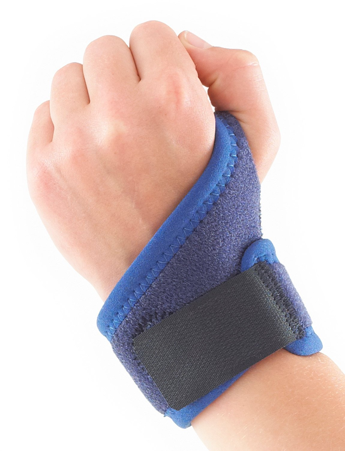 Neo G Wrist Brace for Kids - Support For Juvenile Arthritis, Joint Pain, Hand Sprains, Strains, Sports, Gymnastics, Tennis - Adjustable Compression - Class 1 Medical Device - One Size - Blue by Neo-G (Image #2)