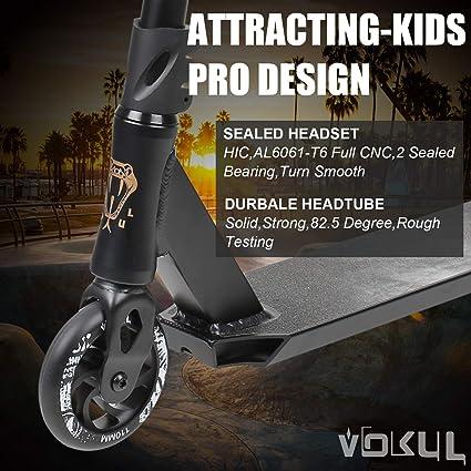 Amazon.com: VOKUL Patinete completo profesional para niños ...