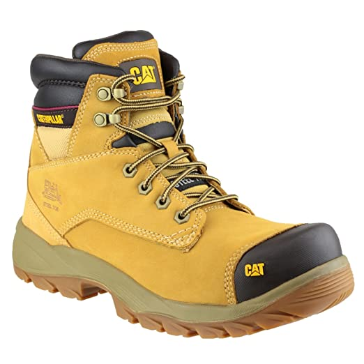 CAT Workwear Mens SPIRO Water Resistant Leather S3 Steel Safety Boots: Amazon.es: Industria, empresas y ciencia