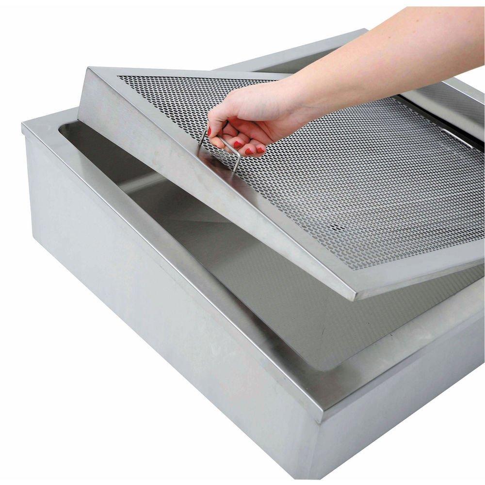 Hubert Ice Display Riser Slanted Stainless Steel - 27''L x 21''W x 1/2''H