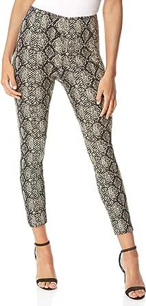 Roman Originals - Pantalón elástico para mujer, diseño de serpiente, corte fino, cintura elástica, estampado animal, cómodo, chic y casual