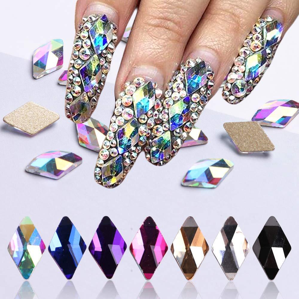 Flat Back Multicolor AB Crystal Bead Rhinestoneas Gems Pearls For 3D ...