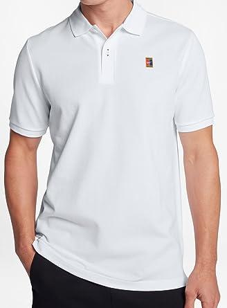 NIKE M Nkct Heritage Polo de Tenis, Hombre, Blanco (Blanco/Negro ...