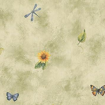 Tapete Küche Landhaus Sonnenblume Schmetterling: Amazon.de: Küche ...