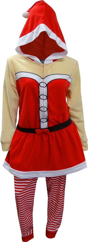 Santa Claus Tiki Surf Drop Seat Women's Small 4-6 one Piece Christmas Sleepwear