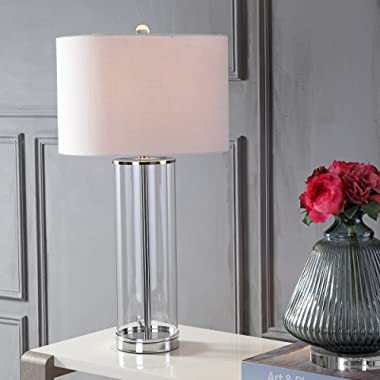 JONATHAN Y JYL2004A Harper Glass Table Lamp, Clear/Chrome