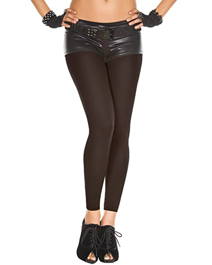 7a857b62979bb Amazon.com: Black Footless Capri Tights Opaque Pantyhose One size ...
