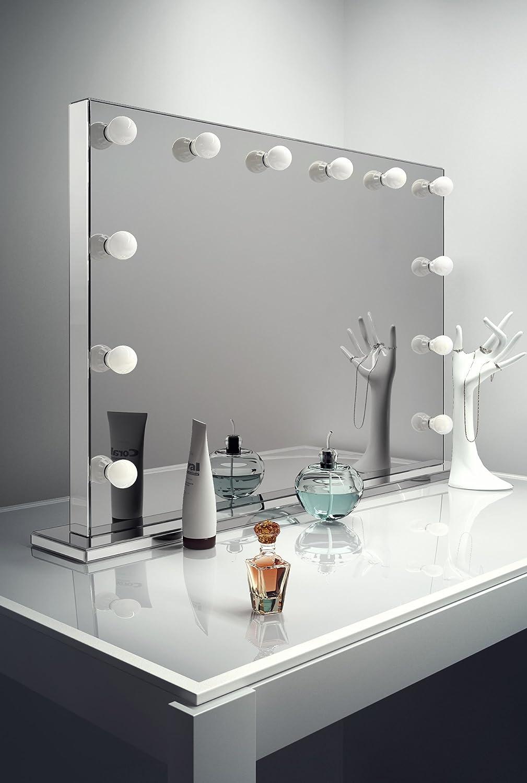 Amazon com   Diamond X Mirror Finish Hollywood Makeup Mirror Warm White LED  k253WWaud   Beauty. Amazon com   Diamond X Mirror Finish Hollywood Makeup Mirror Warm