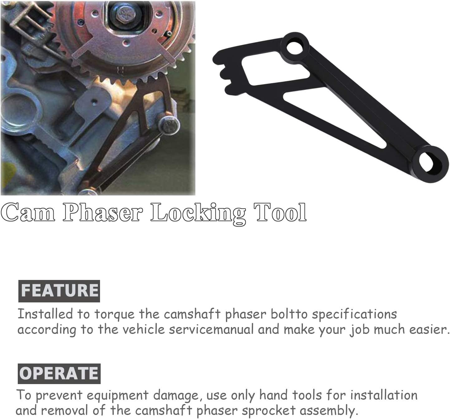 Crankshaft Positioning Tool Valve Spring Compressor for Ford 4.6L//5.4L//6.8L 3V Engines Repair Tools Kit Cam Phaser Holding Tool and Timing Chain Locking Wedge Tool with Lockout /& Pulley Bolt