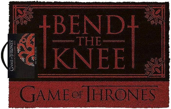 Game of Thrones Tapis Brosse Fibres de Coco//PVC Multicolore 40 x 60 cm