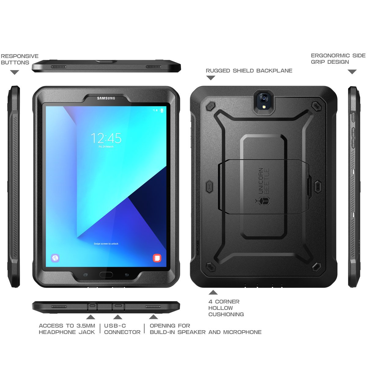 Galaxy Tab S3 9.7 Case, SUPCASE [Heavy Duty] [Unicorn Beetle PRO Series] Full-body Rugged Protective Case with Built-in Screen Protector for Samsung ...