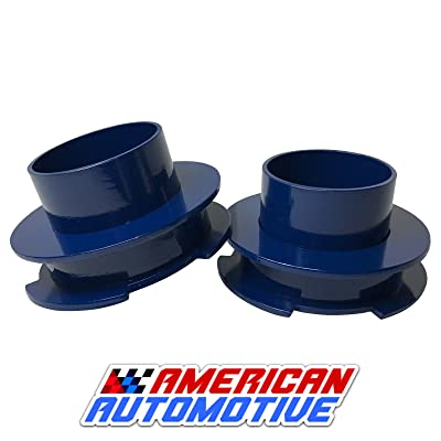 "American Automotive 1994+ Ram 1500 Lift Kit 2"" 2WD Blue Steel Coil Spring Spacers 'Road Fury' Leveling Lift Kit (Set of 2): Automotive"