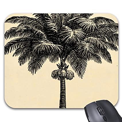 Amazon Com Vintage Tropical Island Palm Tree Template Blank Mouse