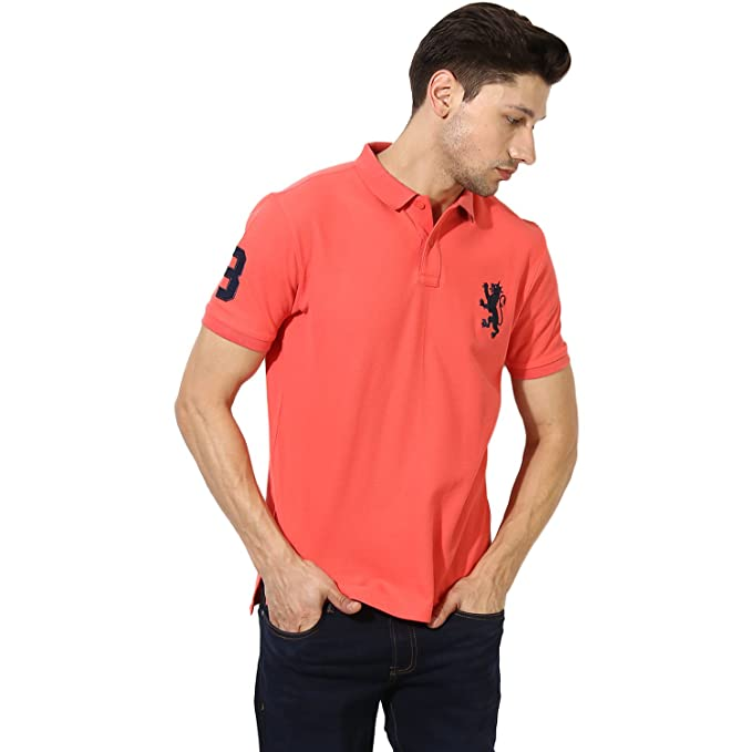 d65d7b9e3ad Red Tape Men s Solid Regular Fit T-Shirt  Amazon.in  Clothing ...