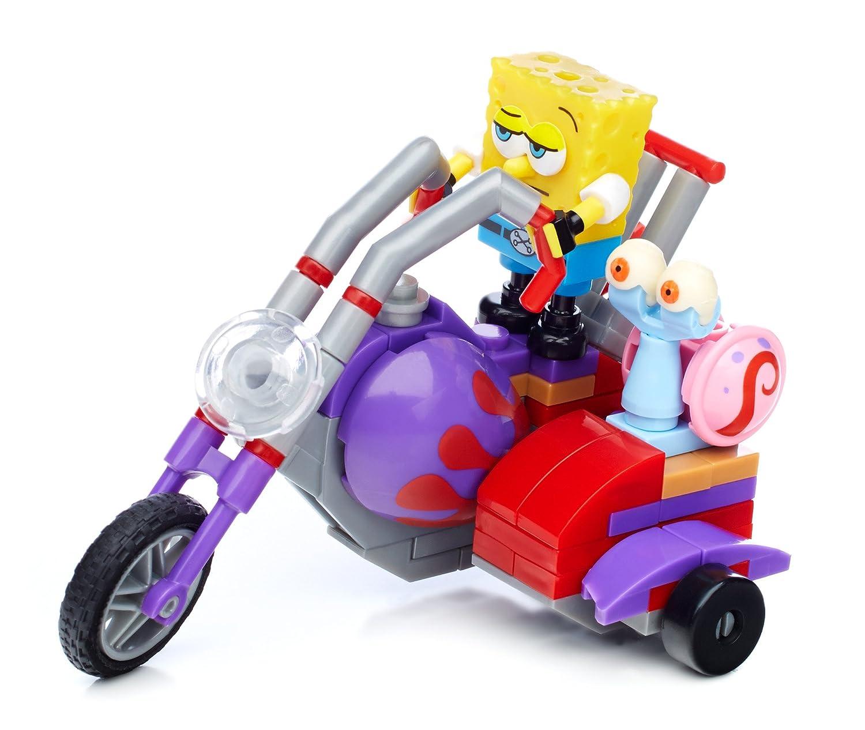 mega bloks toys spongebob squarepants bike racer figure playset